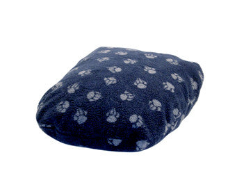 Navy Sherpa Fleece Fibre Dog Bed