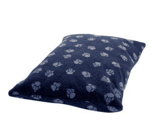 Navy Sherpa Fleece Extra Thick Duvet Dog Bed