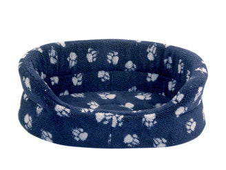 Navy Sherpa Fleece Slumber Dog Bed