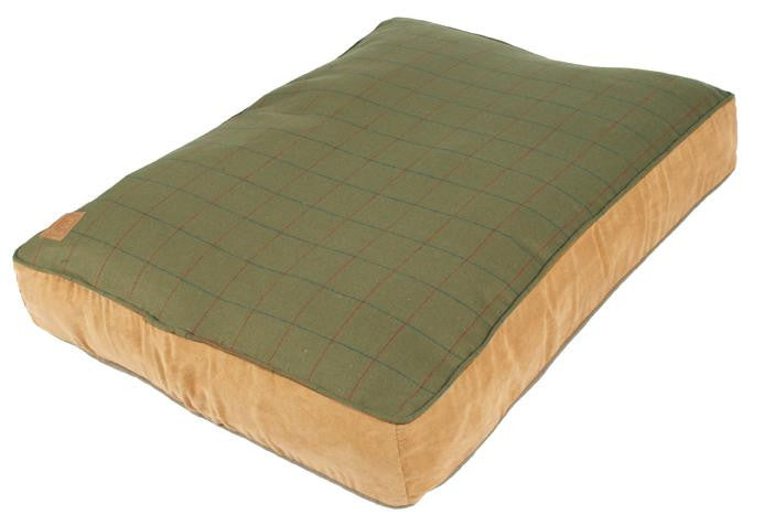 Green Tweed Box Duvet Dog Bed