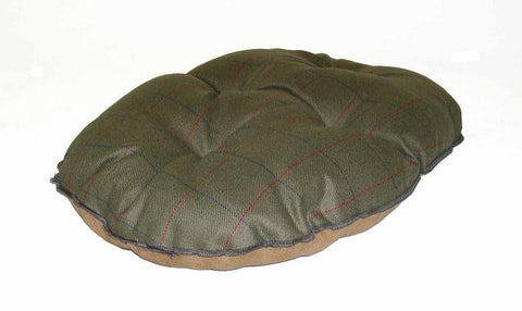Green Tweed Quilted Dog Mattress