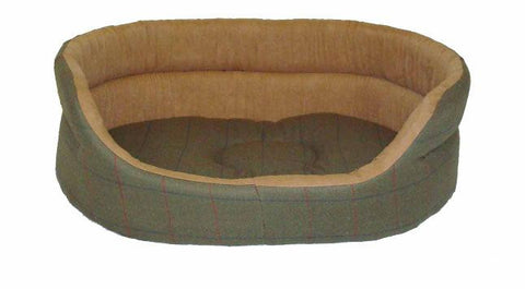 Green Tweed Slumber Dog Bed