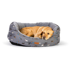 FatFace Marching Dogs Deluxe Slumber Bed