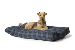 Lumberjack Box Duvet Dog Bed Navy / Grey