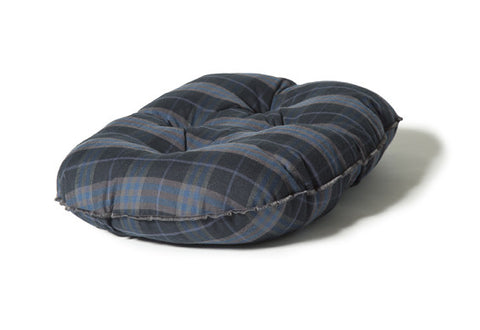 Lumberjack Navy / Grey Qulited Mattress Dog Bed