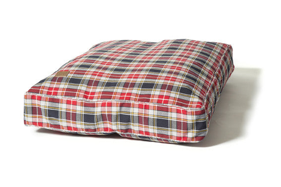 Lumberjack Box Duvet Dog Bed Red / Grey
