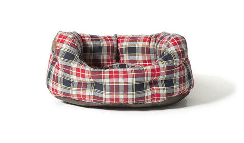 Lumberjack Red / Grey Deluxe Slumber Dog Bed