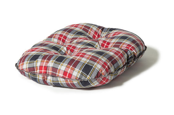 Lumberjack Red / Grey Qulited Mattress Dog Bed