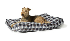 Lumberjack Box Duvet Dog Bed White / Navy