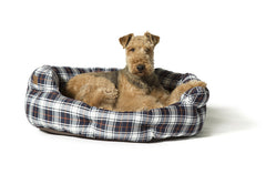 Lumberjack White / Navy Deluxe Slumber Dog Bed
