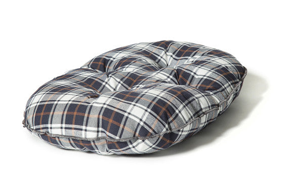 Lumberjack White / Navy Qulited Mattress Dog Bed