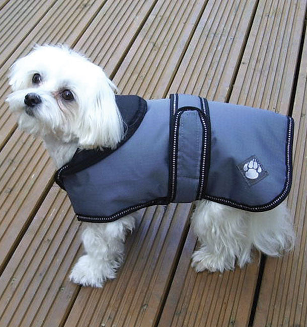 Luxury Dog Coat Dusty Blue