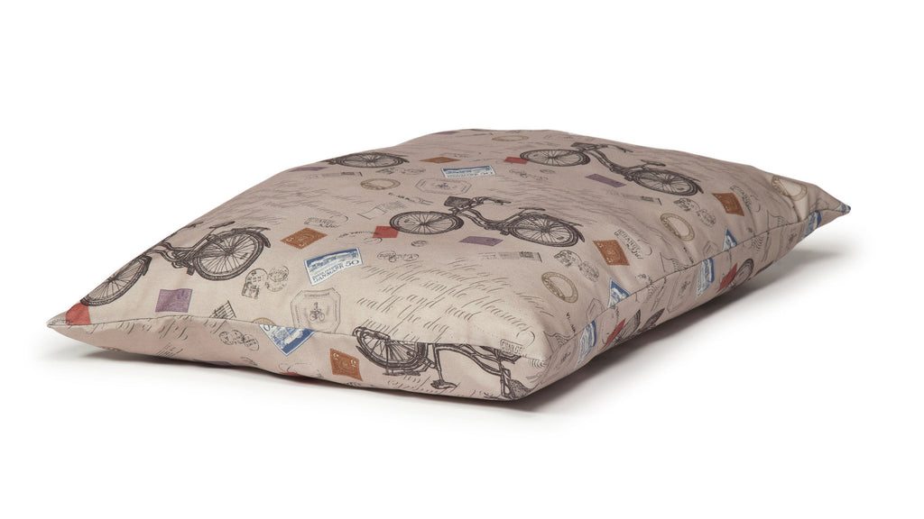 Vintage Bicycles Extra Thick Duvet Dog Bed