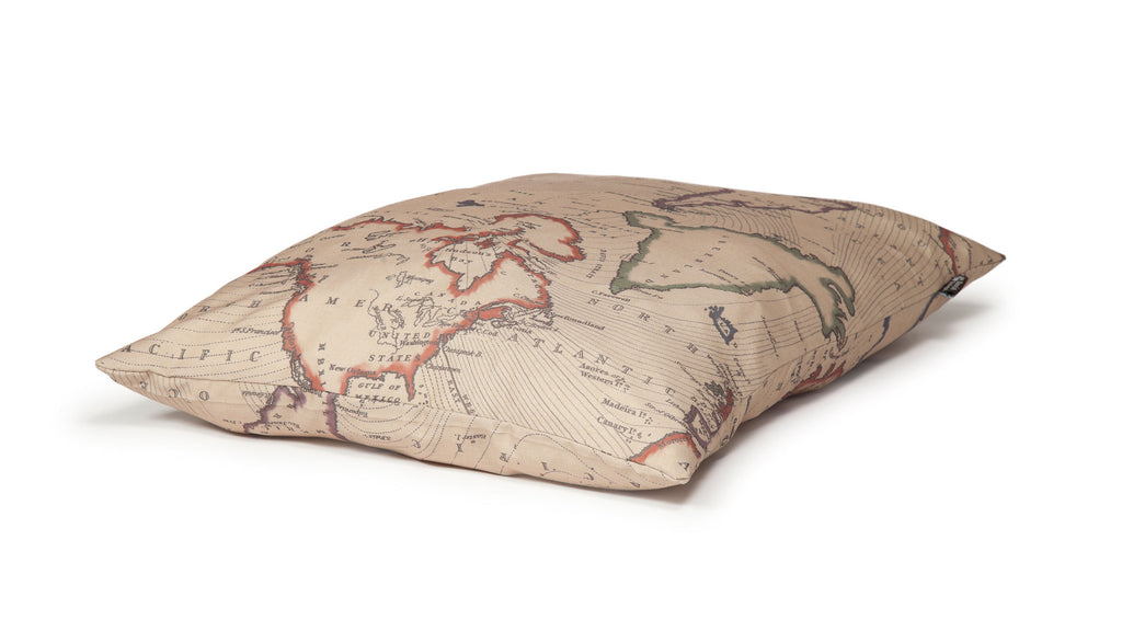 Vintage Maps Extra Thick Duvet Dog Bed