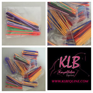 Plastic plaiting needles