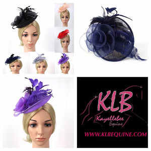 Fascinator - flower & feather