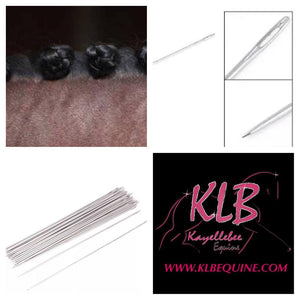 Metal plaiting needles