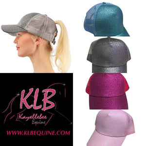 Glitter bling ponytail caps