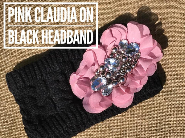 Warm winter headbands with bling