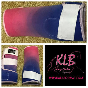 Custom Hot pink & purple boots - Medium