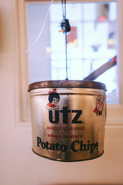 UTZ Potato Chips Can Pendant Light