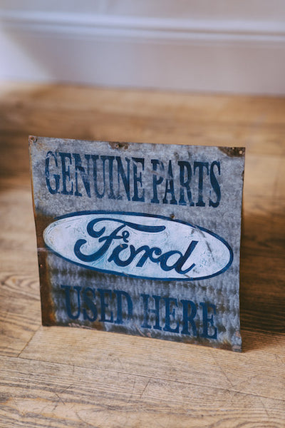 Hand painted Ford Parts Sign