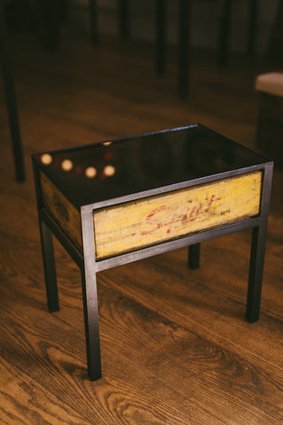 Vintage Squirt Soda Crate Table