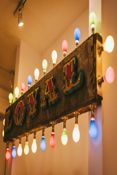 "Hand Painted Fairground Style Illuminated ""LOYAL"" Sign"