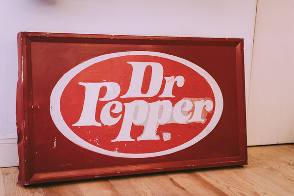 Original 1980's Dr Pepper Advertising Sign