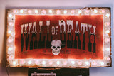 Wall Of Death Sign And Motorcycle