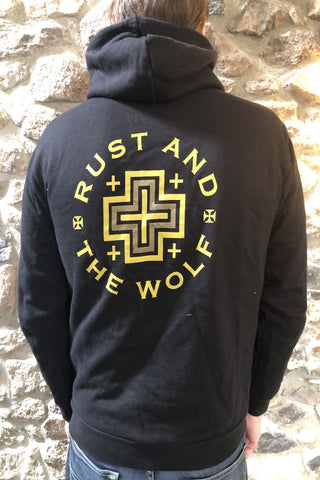 Rust And The Wolf Desert Cross Hoodie