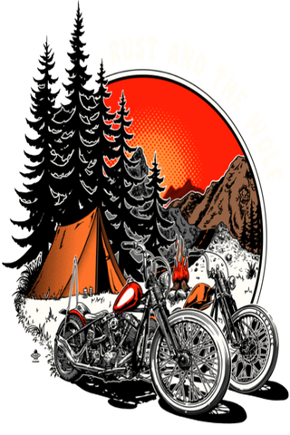 Rust And The Wolf Chopper T Shirt