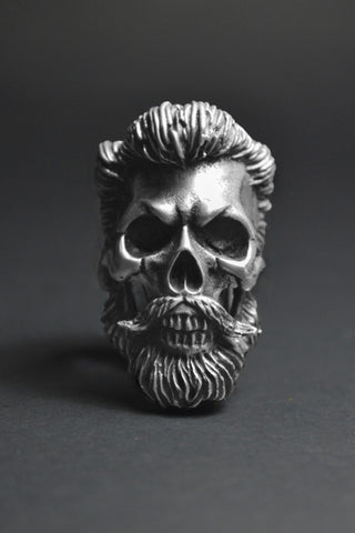 """God Of Beards"" Skull Ring"