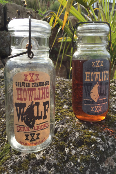 """Howling Wolf"" Corn Liquor Storage Jar"