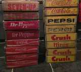Yellow Pepsi Cola Crate Console Table