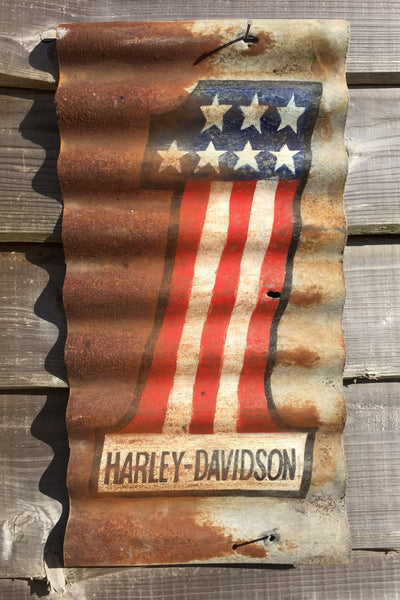 Hand Painted Harley Davidson No.1 Sign