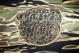 """Rust And The Wolf"" Brand Vietnam ""Gold"" Tiger Stripe Souvenir Jacket"