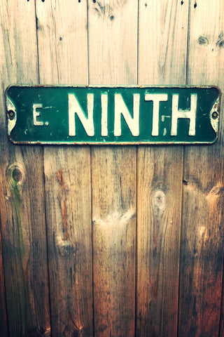 """East Ninth"" Street Sign *SOLD*SOLD*SOLD*"