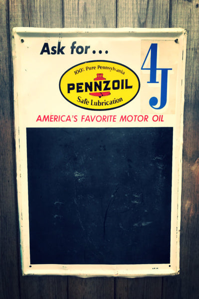 Pennzoil Chalk Board Sign