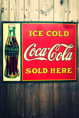 Ice Cold Coca Cola Advertising Sign
