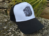 Rust and The Wolf Black Logo Trucker Hat