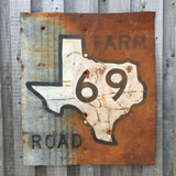 Texas Farm Road Sign