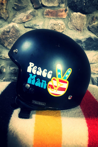 """Peace Man"" Motorcycle Helmet"