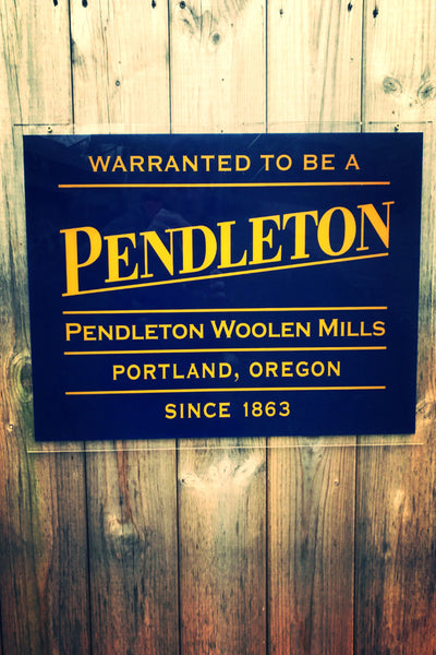 Pendleton Store Advertising Sign