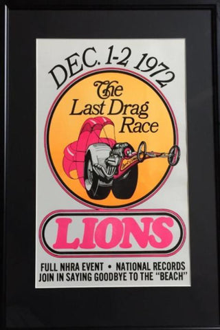 """The Last Drag Race"" Original 1972 Framed Poster"