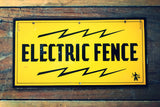 1960's U.S. Electric Fence Sign