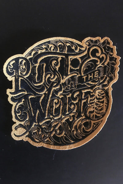 'Rust And The Wolf' Logo Sew On Patch
