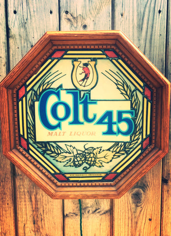 Colt 45 Beer Light Up Bar Sign