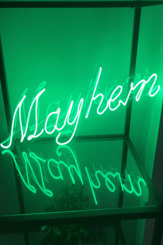 """Mayhem"" Neon Sign"