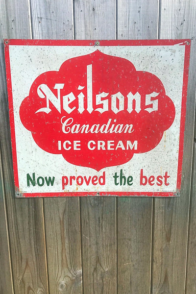 Neilsons Canadian Ice Cream Sign